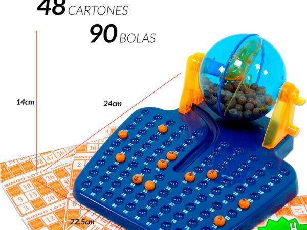BINGO LOTTO MANUAL de 90 BOLAS números 48 CARTONES
